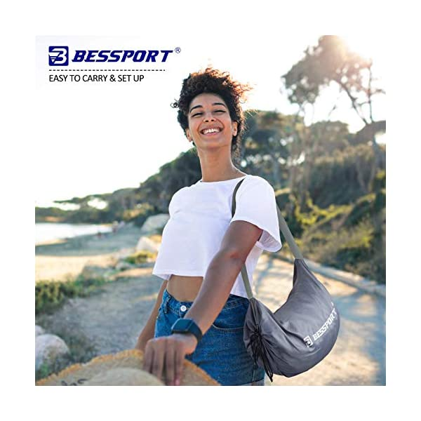 519u1pcrphL Bessport Strandzelt Sonnenschutz Kommt mit 4 Sandsäcken und 4 Aluminiumstangen 3mx3m   UPF 50+ UV Sonnenschutz…