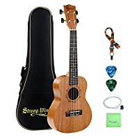 Strong Wind Tenor Ukulele Starter Kit with gig bag, ukulele nylon string, picks, polishing cloth and ukulele strap