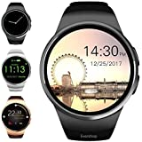 Evershop Smart Watch 1.5 inch IPS Touch Screen with SIM Card TF Card Slot - Smart Watches Smartwatch Phone with Sleep Monitor Heart Rate Monitor and Pedometer for iOS Android (Black)