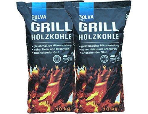 20 kg (2x10kg)Grillholzkohle Holzkohle (Buche) Premium