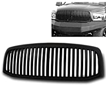ZMAUTOPARTS Dodge Ram 1500 2500 3500 Front Upper Hood Sport Grille Grill ABS Black