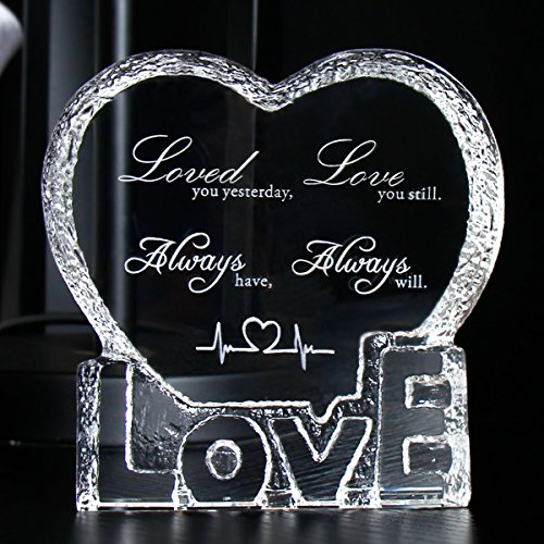 YWHL Love Crystal Sculpture gifts for Anniversary,Wedding,Valentine's ()