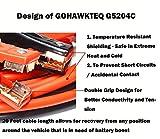 GOHAWKTEQ G5204C 4 Gauge 500A 20 Ft Heavy Duty
