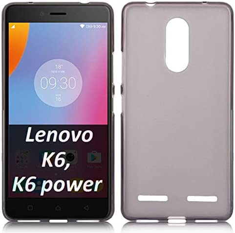 COMPATIBILE Funda para Lenovo Vibe K6 (k33 a48), Vibe K6 Power (k33 a42) en Gel TPU Silicona Color Negro Transparente: Amazon.es: Electrónica