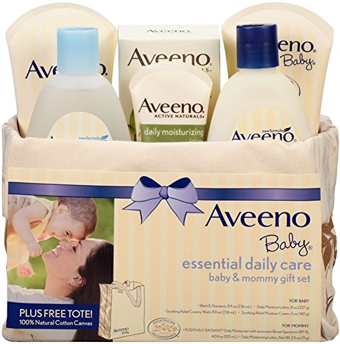 AVEENO Baby Essential Daily Care Baby & Mommy Gift Set 1 ea (4 Pack) by Pharmapacks