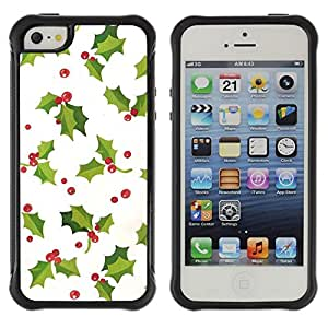 Suave TPU GEL Carcasa Funda Silicona Blando Estuche Caso de protección (para) Apple Iphone 5 / 5S / CECELL Phone case / / mistletoe Christmas winter white green /