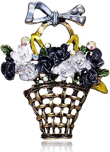 ZWH-ZWH 女性のブローチピンブローチ花植物クリスタルラインストーン母の日ヴィンテージジュエリー女性のためのカラフルなブローチ、ベストギフト ブローチ