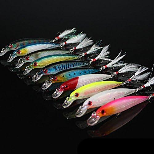 OriGlam Cebos para pesca, 10 unidades, 3D, señuelos de pesca ...