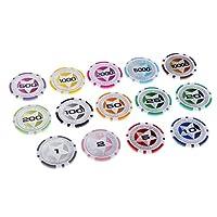 Fenteer ポーカーチップ クレイポーカーチップ テーブルゲーム 道具 ボードゲーム 全4種選べ - 3の商品画像