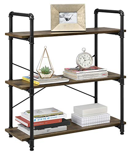 - Ameriwood Home Carter 3 Shelf Bookcase, Rustic