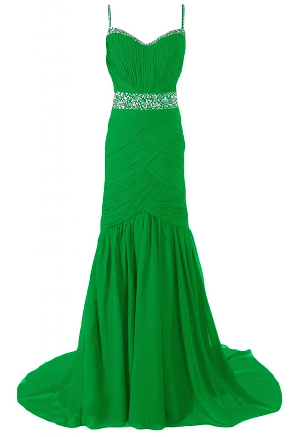 Sunvary Romantic Spaghetti Straps Prom Dress Long Party Evening Dresses Pageant Formal Dress