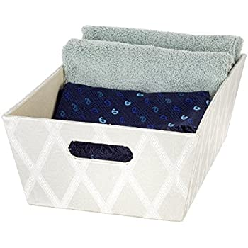 Creative Scents Galliana Decorative Storage Box with Moisture-Proof Interior | Heavy Duty Fabric Organizer Bin | Ample Space for Closet Organization, Toys, ...