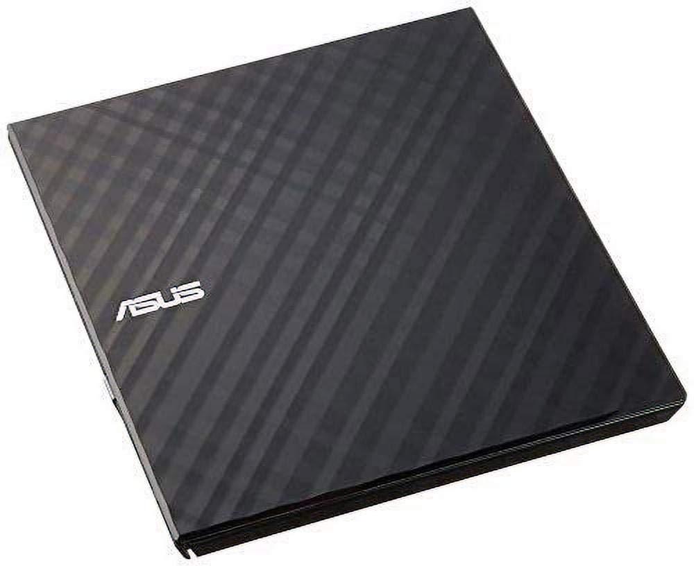 ASUS SDRW-08D2S-U LITE Black - Portable 8X DVD Burner with M-DISC Support for Lifetime Data Backup, Compatible for Windows/Mac OS, Disc Encryption, Unlimited Webstorage (12 Months)