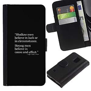iBinBang / Flip Funda de Cuero Case Cover - Fuerte Cita profunda inteligente - Samsung Galaxy S5 V SM-G900