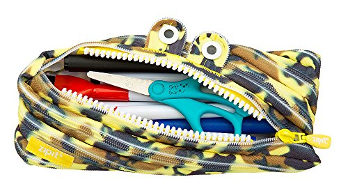 ZIPIT Camo Monster Pencil Case, Yellow