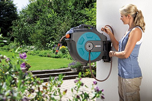 GARDENA Retractable Hose Reel 82-Feet With Convenient Hose Guide