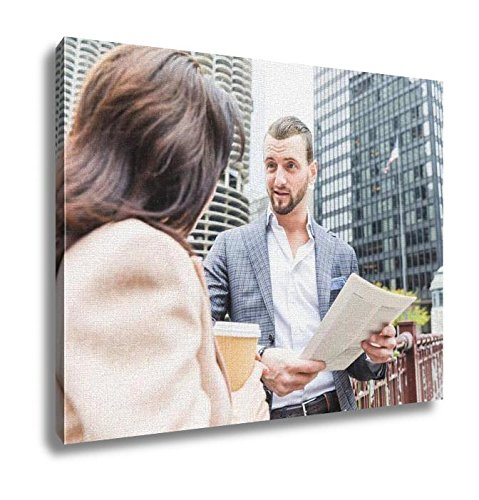 Ashley Canvas, Business People Meeting And Talking During Coffee Break In Chica, Wall Art Home Decor, Ready to Hang, 16x20, - Chico's Policy Return