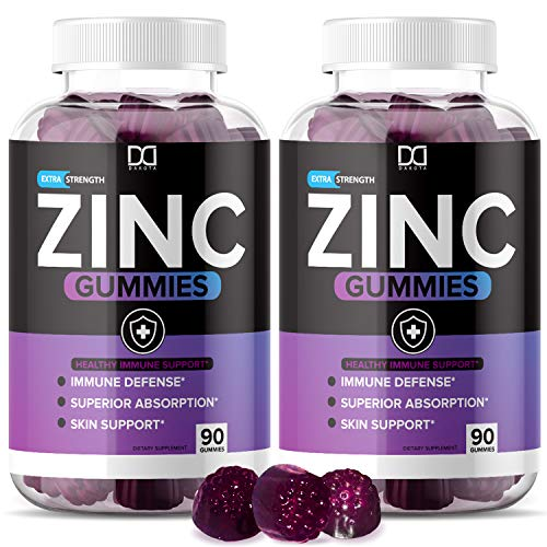 (180 Gummies) Zinc Gummy Chewable Vitamin Supplements 30mg with Echinacea for Adults for Immune Support Booster - Immunity System Boost Gummy Alternative to Lozenge, Capsules Pills, Tablets (2 Pack)