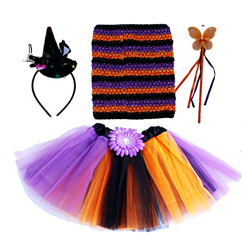 Witch Princess Dress Up Costume Tutu Outfit Fancy Dress Halloween Party