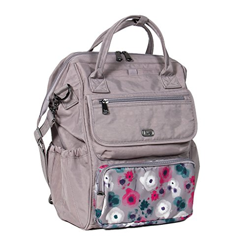 - Lug Women's Via Tote Backpack, Pearl Watercolor Floral One Size