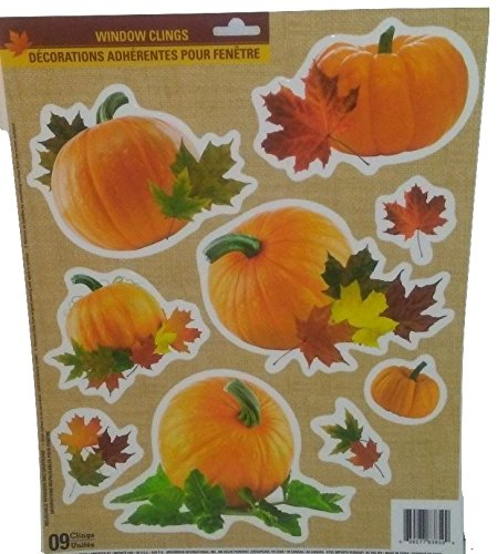 [Autumn Fall Thanksgiving Harvest Pumpkin Leaves Decorations Stickers Pumpkin B] (Homemade Ty Beanie Baby Costumes)