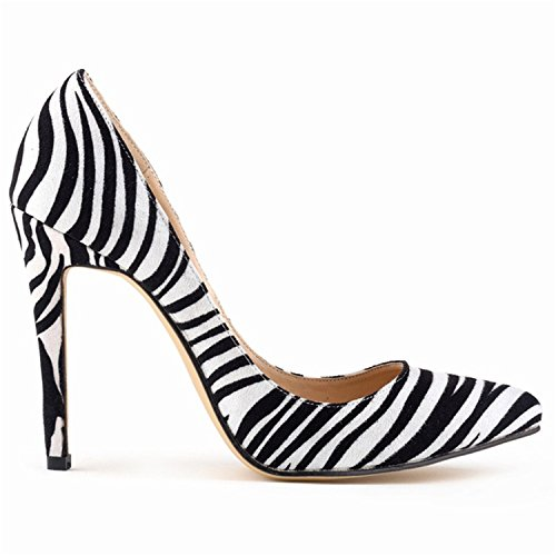 Sandals Pumps L005 Pointed Zebra Heels Shoes Women Toe 's High Shoesland atEqF8n
