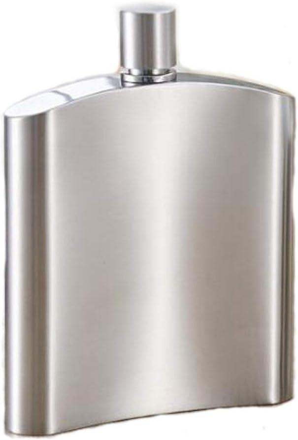 LI FANG フラゴン、スキットル、ステンレス鋼のヒップフラスコ、焼酎ボトルジャグ、屋外のキャリーキャンプウイスキージャグ170ミリリットル、200ミリリットル、銀6オンス7OZについての6オンス、7オンス、 (Capacity : 200 ml, Color : Silver)