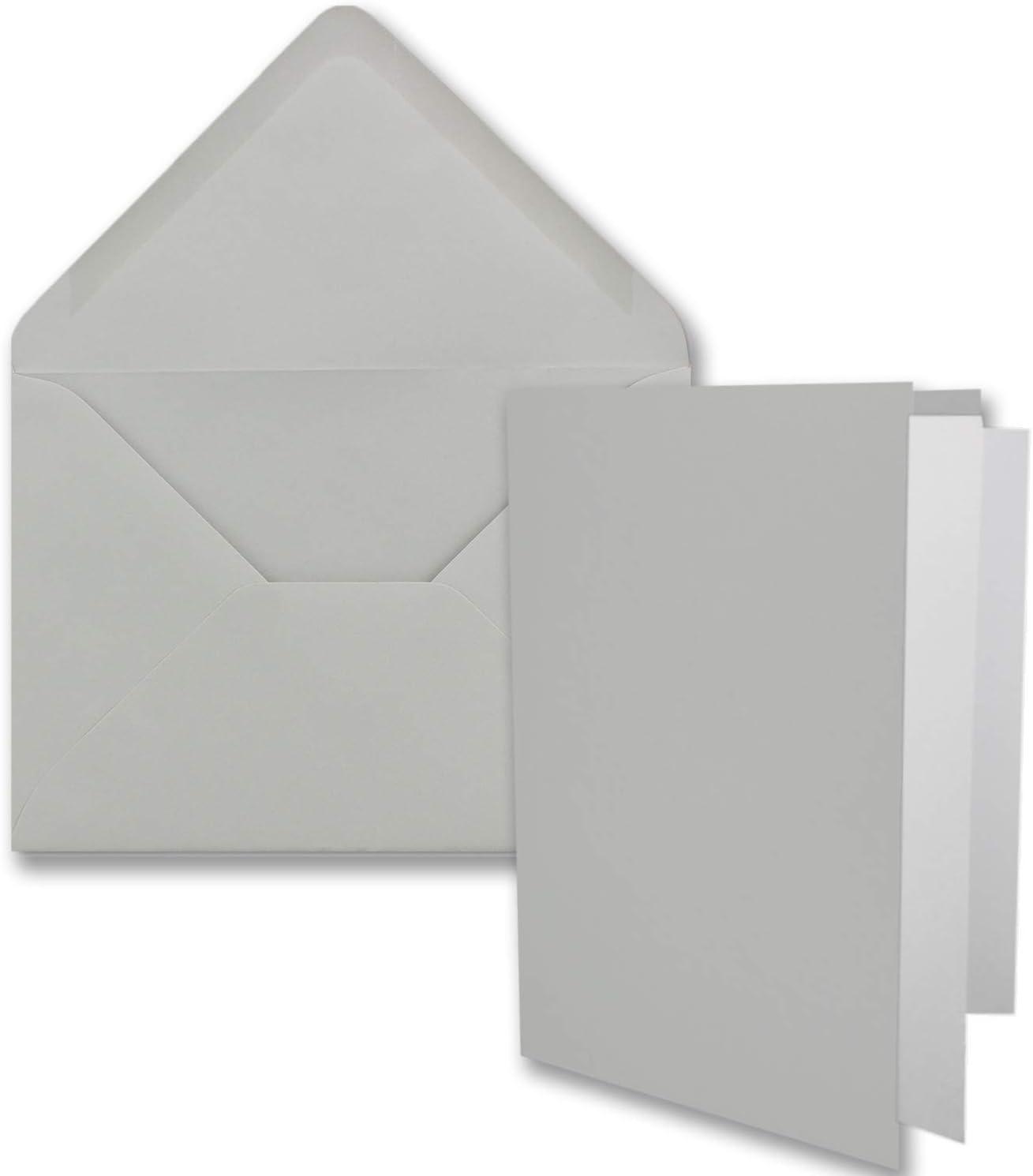 Hochzeit ideal f/ür Einladungskarten 11,5 x 17,0 cm Honig-Gelb DIN B6 Faltkarten Set mit Umschl/ägen Kommunion 100 Sets Konfirmation Marke: FarbenFroh/® Taufe formstabil