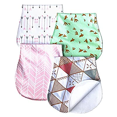 ARNZION Baby Burp Cloths Baby Burp Set Curved Absorbent and Soft Valuable 4 Pack by ARNZION that we recomend personally.