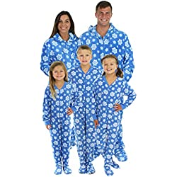 SleepytimePjs Blue Snowflake His and Hers Christmas Onesies