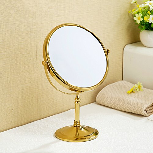 Desktop double-sided makeup mirrors makeup/shaving mirrors dressing table mirrors cosmetic mirrors 8 inch