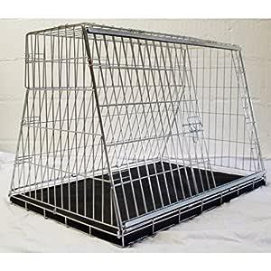 Jaula de coche para perro, de 91 cm, con diseño «Puppi Crate ...