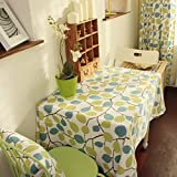 Garden Style Cotton Table Cloth,Cloth Table Cloth-A 230x230cm(91x91inch)