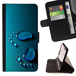 BullDog Case - FOR/Apple Iphone 4 / 4S / - / Baby Footsteps /- Monedero de cuero de la PU Llevar cubierta de la caja con el ID Credit Card Slots Flip funda de cuer