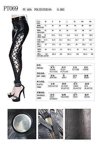 Pu Fashion Cuero Partido La Colour Señoras Cóctel Falda Señora Manera Negros De Steampunk Moda Lannister Góticas Pantalones Hombres Leggings n4Ywdqtt