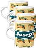School Bus Espresso Mugs - Set of 4 (Personalized)