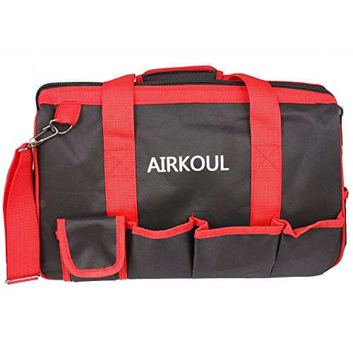 AIRKOUL 15-inch Wide Mouth Tool Storage Bag Collaspable Organizer Water Proof Rubber Base by Airkoul