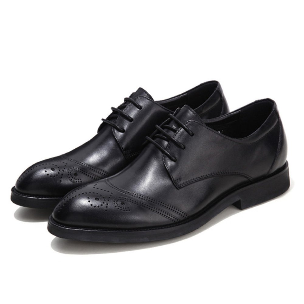 ZPFME Männer Oxford Schuhe Leder Business Smart Formelle Schnürschuhe Brogues Für Männer Business Hochzeit Lederschuhe