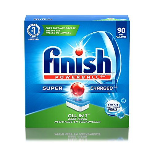 Finish All In 1 Powerball, Fresh 85 Tabs, Dishwasher Detergent Tablets (Packaging May (Finish Pods)