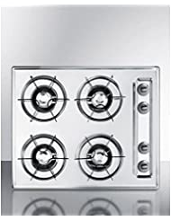 Summit ZNL033 Gas Cooktops, White