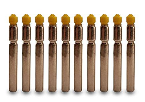LED Bobberライト/バッテリー交換値パック10  イエロー B00YO8QYO0