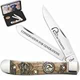 Case Natural Bone Ducks Unlimited Trapper Pocket Knife Gift Set