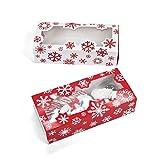 Fun365 Snowflake Cookie Boxes-12 per Pack