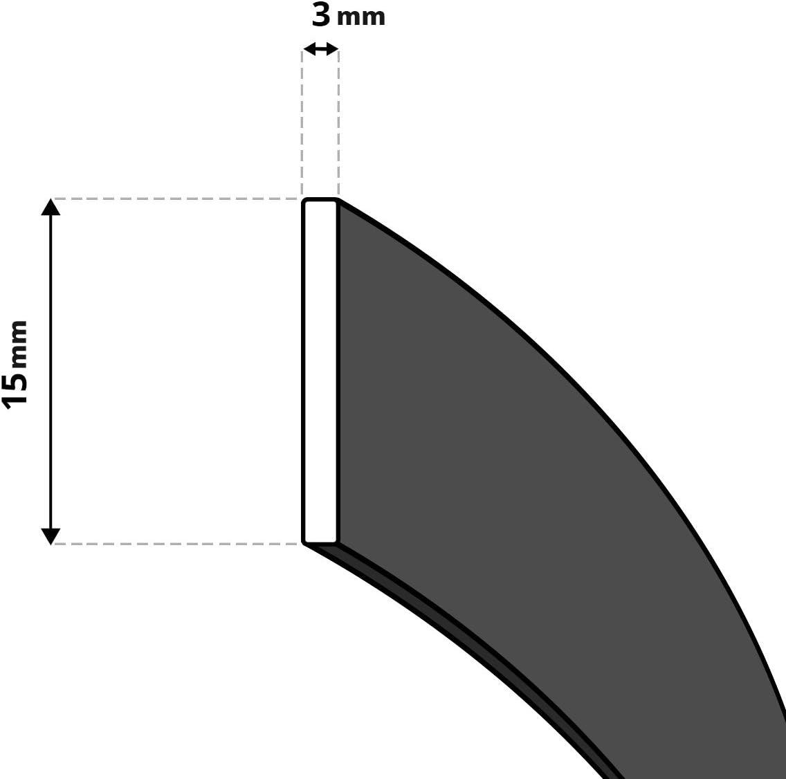 1,5 m Scellant Noir R/ésistant /à la Temp/érature Constante jusqu/à 550 /° C 10x2 mm STEIGNER Ruban Auto-Adh/ésif en Fibre de Verre SKD03