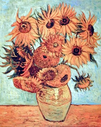 Sunflowers Wall Decor Vincent Van Gogh Vase Floral Flower Art Print Poster ()