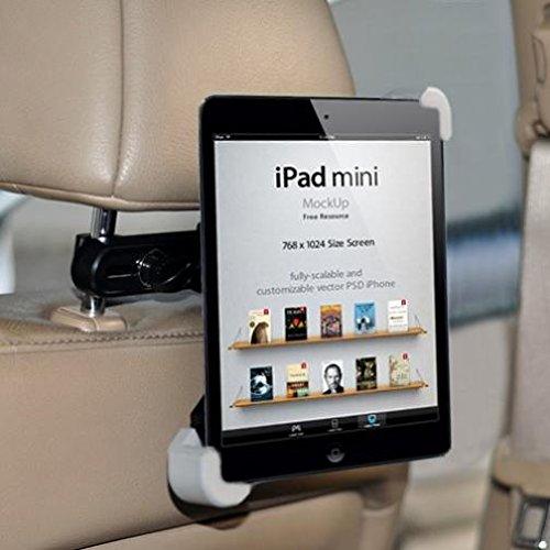 Premium Car Headrest Mount Tablet Holder Swivel Cradle Back