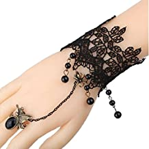 Changeshopping(TM)Vintage Lace Wristband Bracelet Finger Ring Butterfly Spider