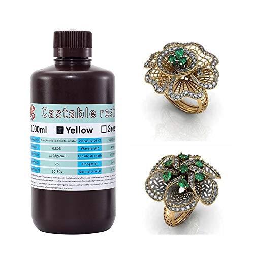 3D Printer Castable Resin Jewelry Liquid Casting/Wax Resin for LCD 3D Printer 1000 ml Casting Resin