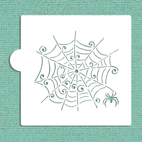 (Whimsical Spiderweb Cookie and Craft Stencil CM022 by Designer Stencils)