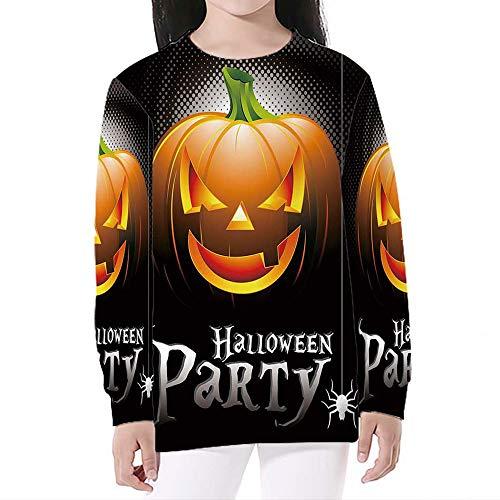 iPrint Unisex Boys' Girls' Crewneck,Halloween,Print Pullover Sweatshirts,L